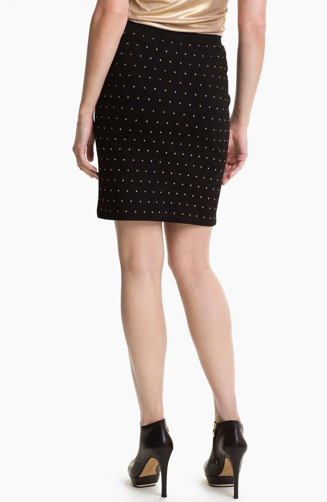 Alternate Image 2  - Vince Camuto 'Disco' Studded Skirt