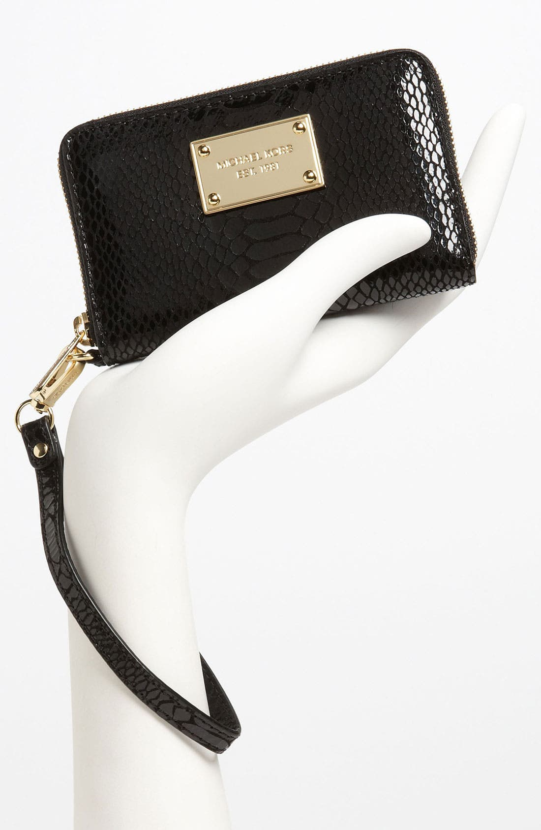 Alternate Image 2  - MICHAEL Michael Kors Python Embossed iPhone Wristlet