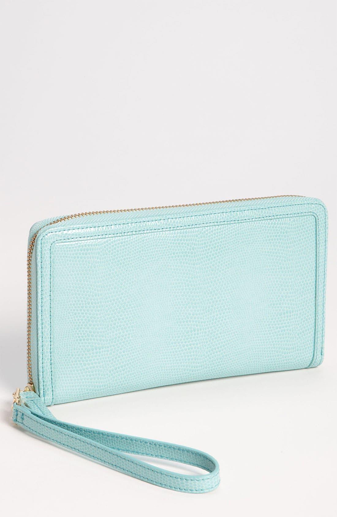 Main Image - Halogen® Glazed Lizard Embossed Zip Around Wallet