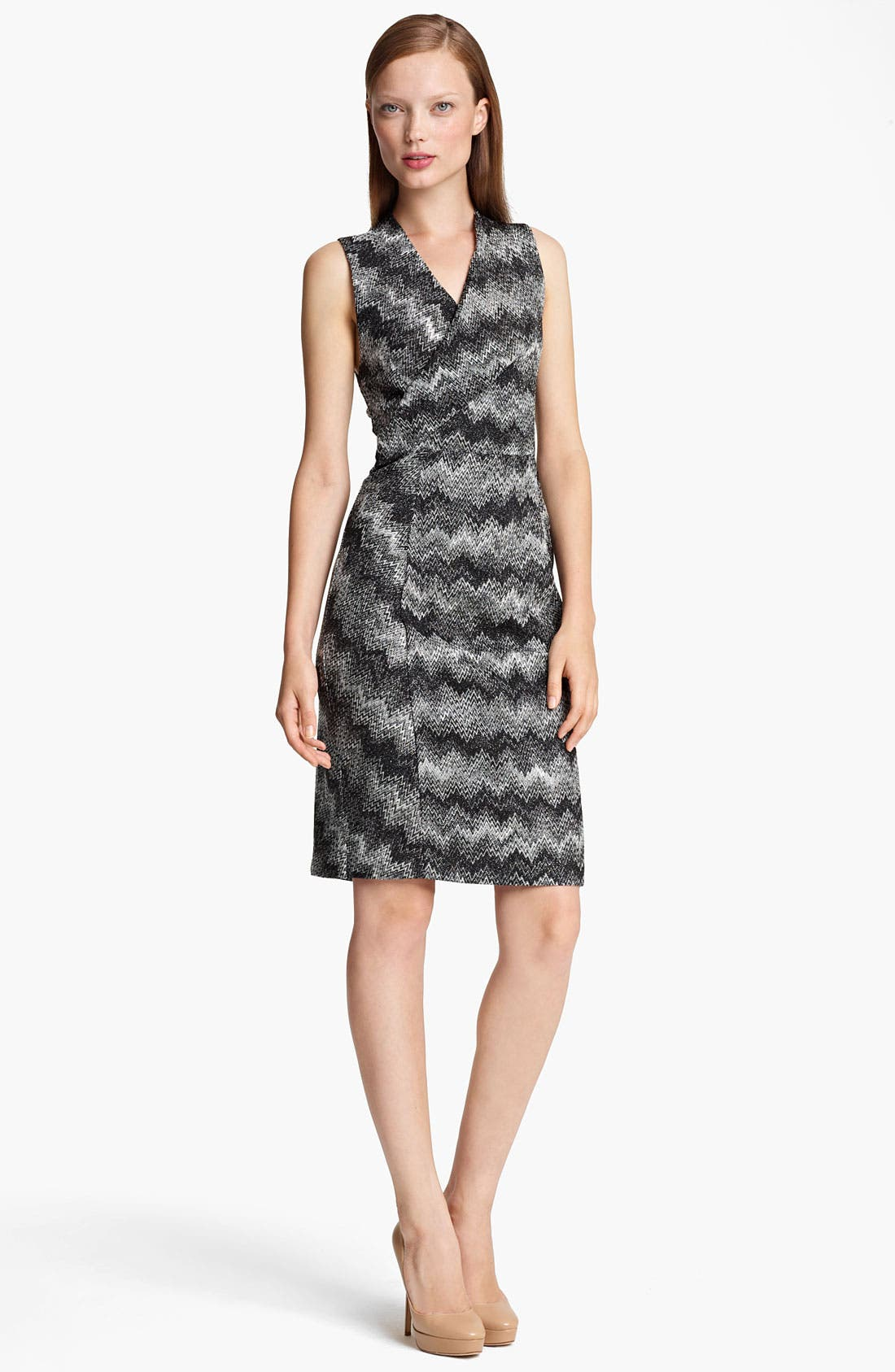 Main Image - Missoni Snake Stitch Faux Wrap Dress