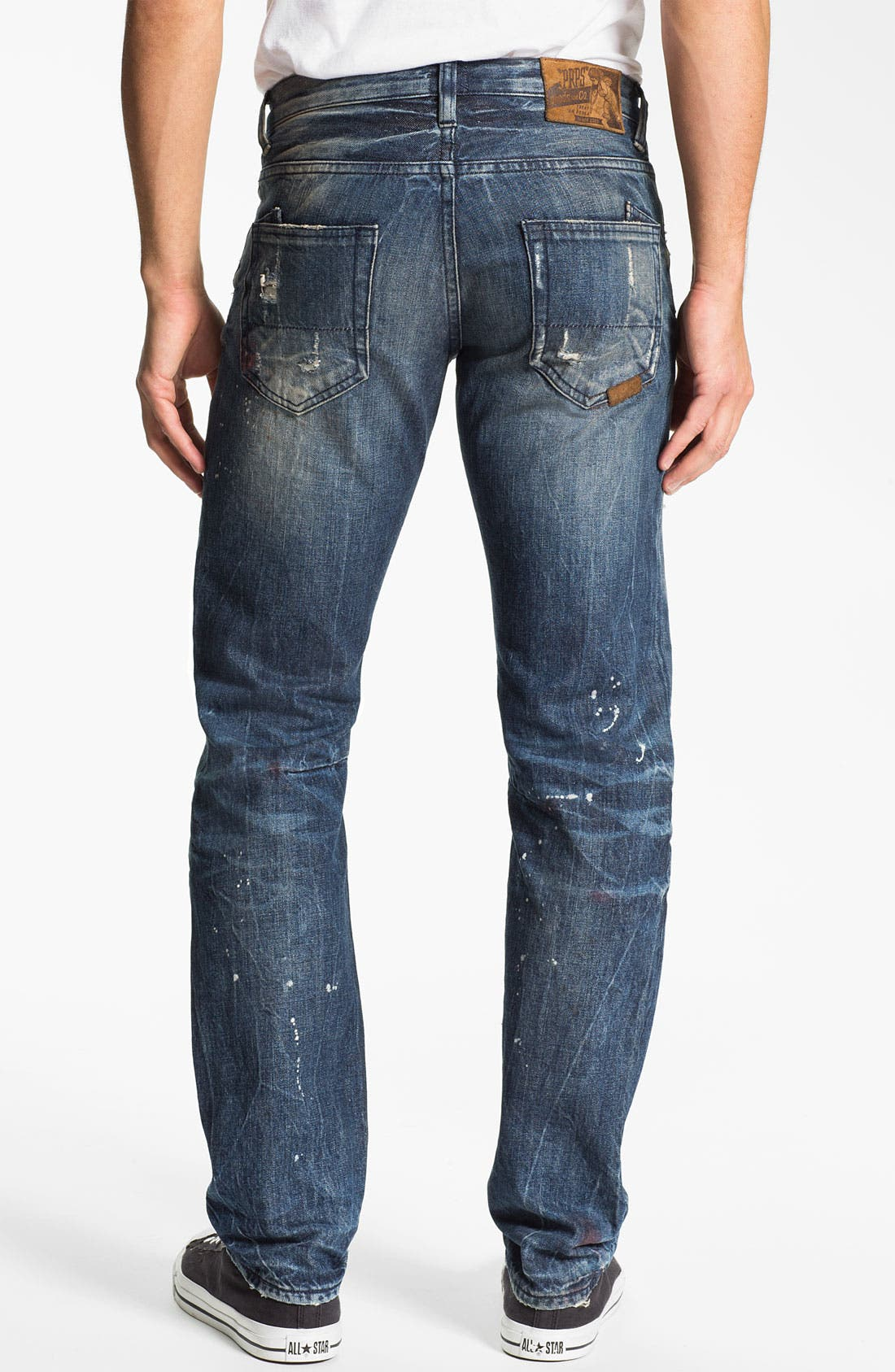 Alternate Image 1 Selected - PRPS 'Tibetan Ladder Rambler' Slim Straight Leg Jeans (Indigo)