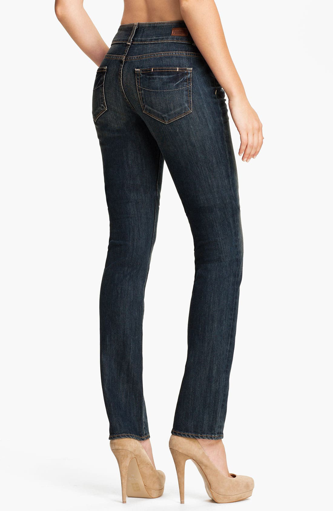 Alternate Image 2  - Paige Denim 'Hidden Hills' Straight Leg Stretch Jeans (Cottonwood Creek)