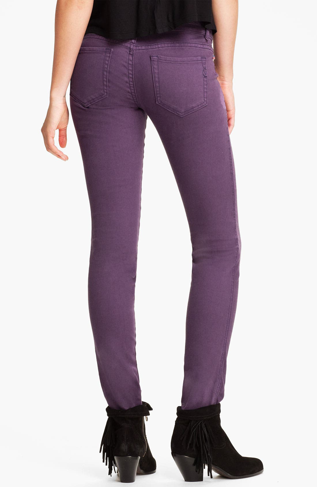 Main Image - Vigoss Color Skinny Jeans (Juniors)
