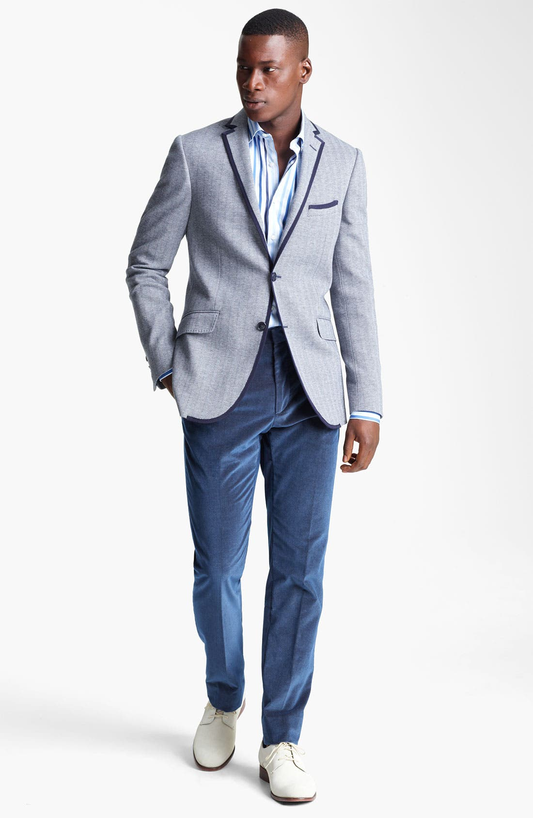 Alternate Image 5  - Etro Herringbone Cotton Blazer