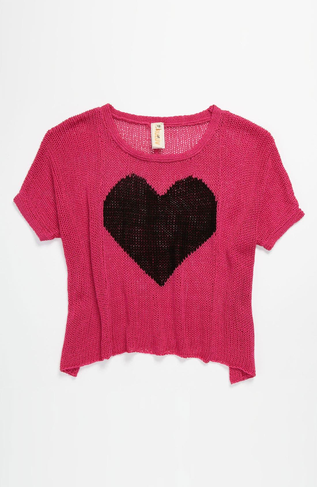 Main Image - Little Mass 'Heart' Sweater (Big Girls)