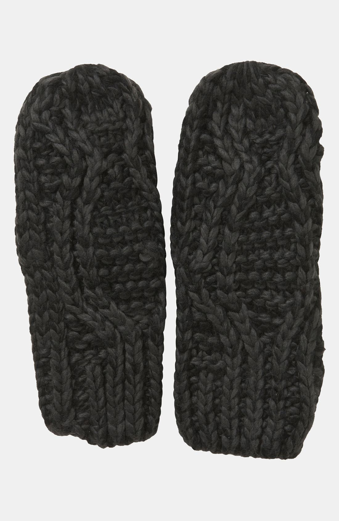 Main Image - Topshop Cable Knit Mittens