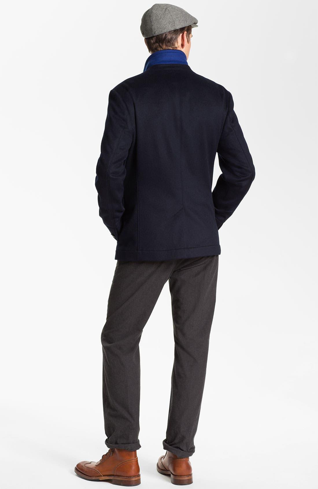 Alternate Image 5  - John Varvatos Star USA Slim Leg Trousers with Suspenders
