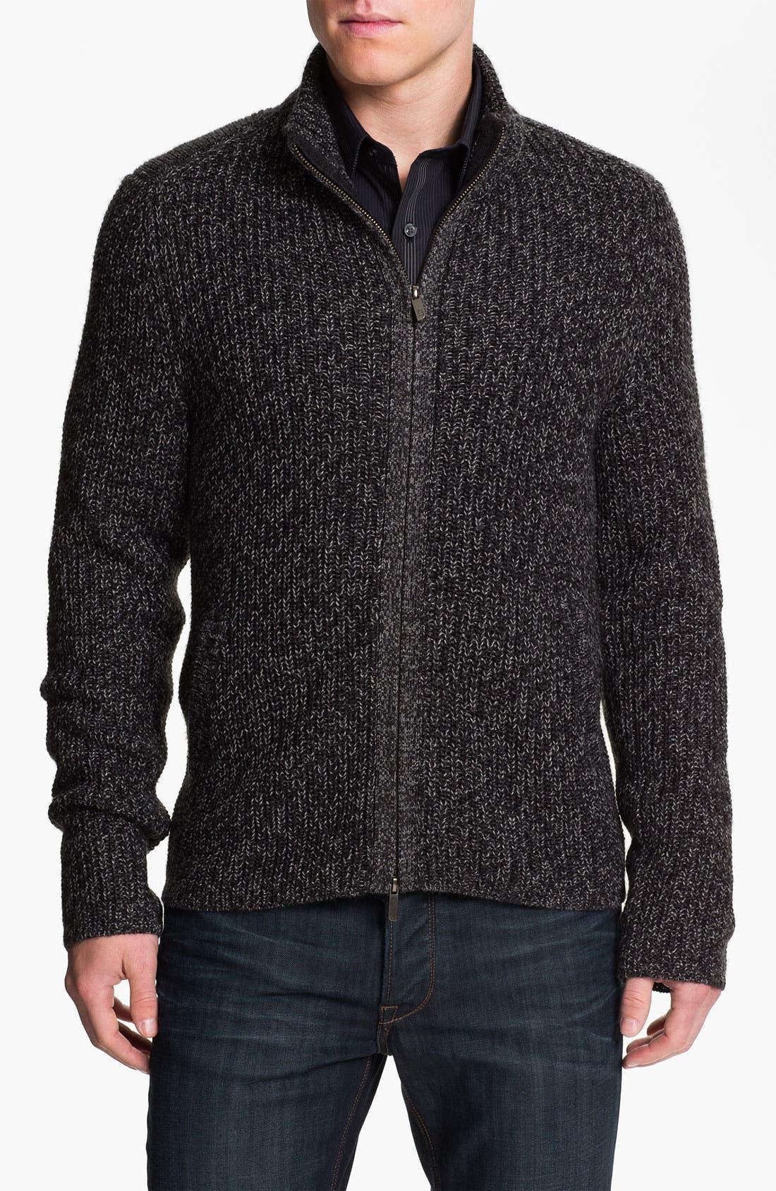 Main Image - Calibrate 'Altman' Wool Blend Zip Cardigan