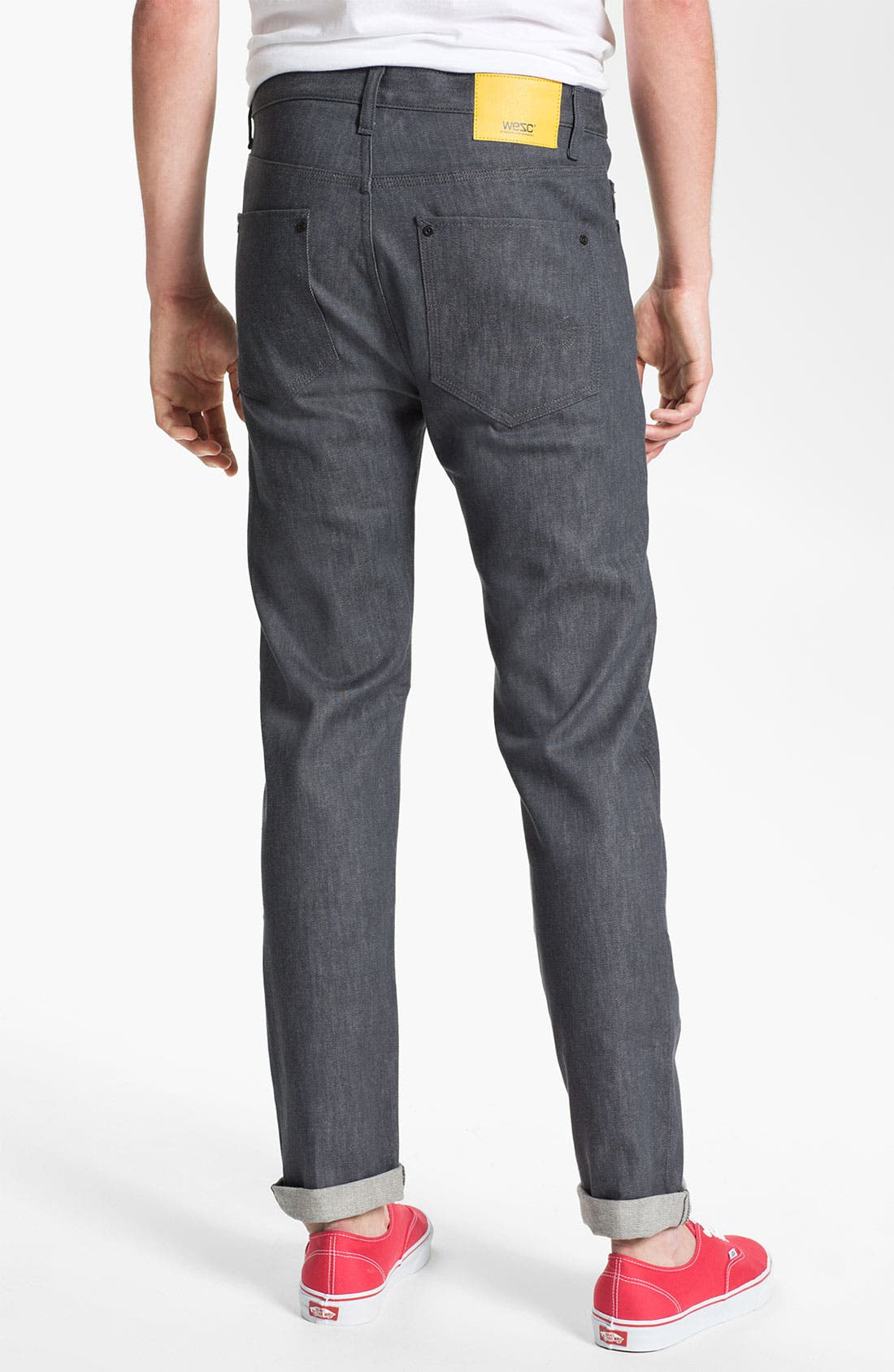 Alternate Image 1 Selected - WeSC 'Eddy' Slim Fit Jeans (Raw Grey)