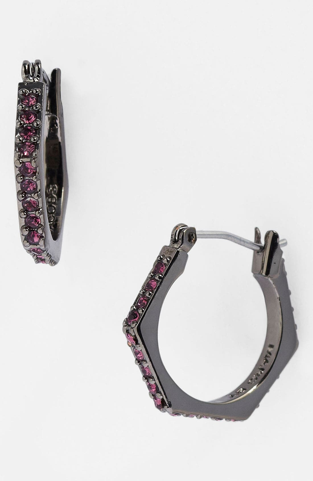 Alternate Image 1 Selected - MARC BY MARC JACOBS 'Bolts - Slice' Pavé Geometric Hoop Earrings