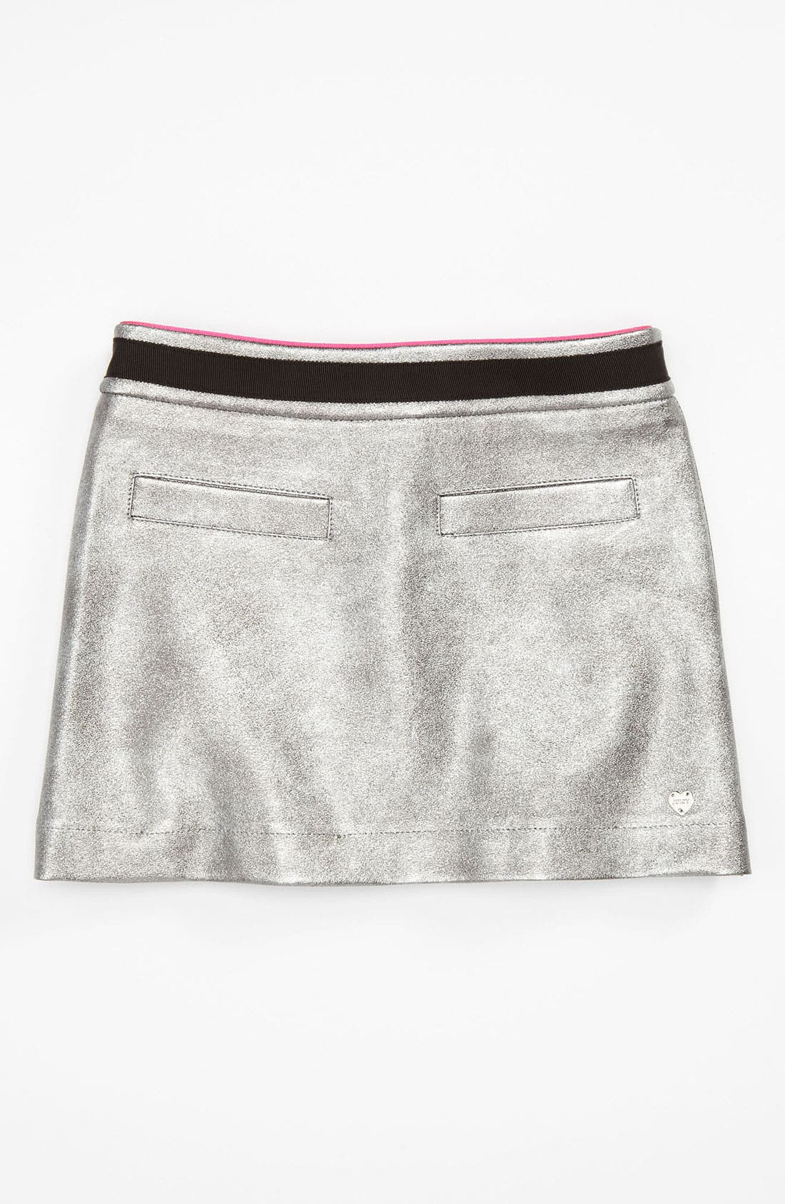 Alternate Image 1 Selected - Juicy Couture Faux Leather Skirt (Little Girls & Big Girls)