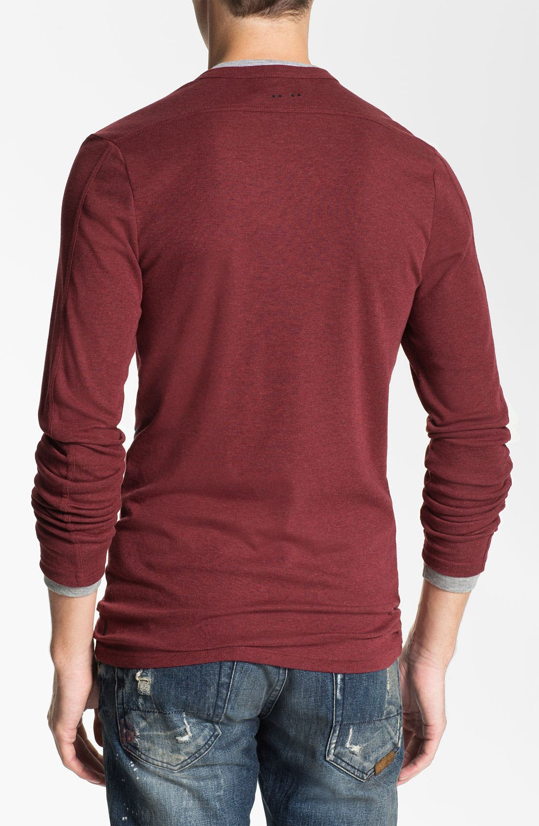 Alternate Image 2  - J.C. Rags Extra Trim Fit Long Sleeve Henley