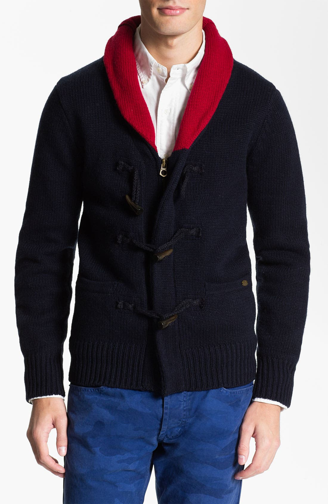 Main Image - Scotch & Soda Shawl Collar Wool Blend Cardigan