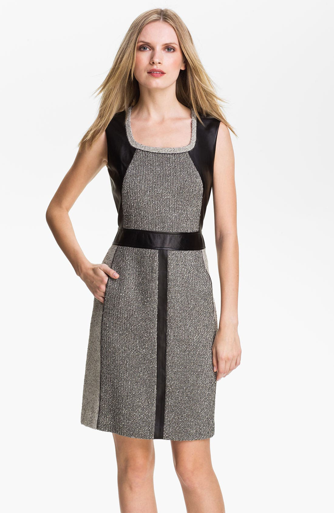 Alternate Image 1 Selected - Lafayette 148 New York 'Seema' Mix Media Dress