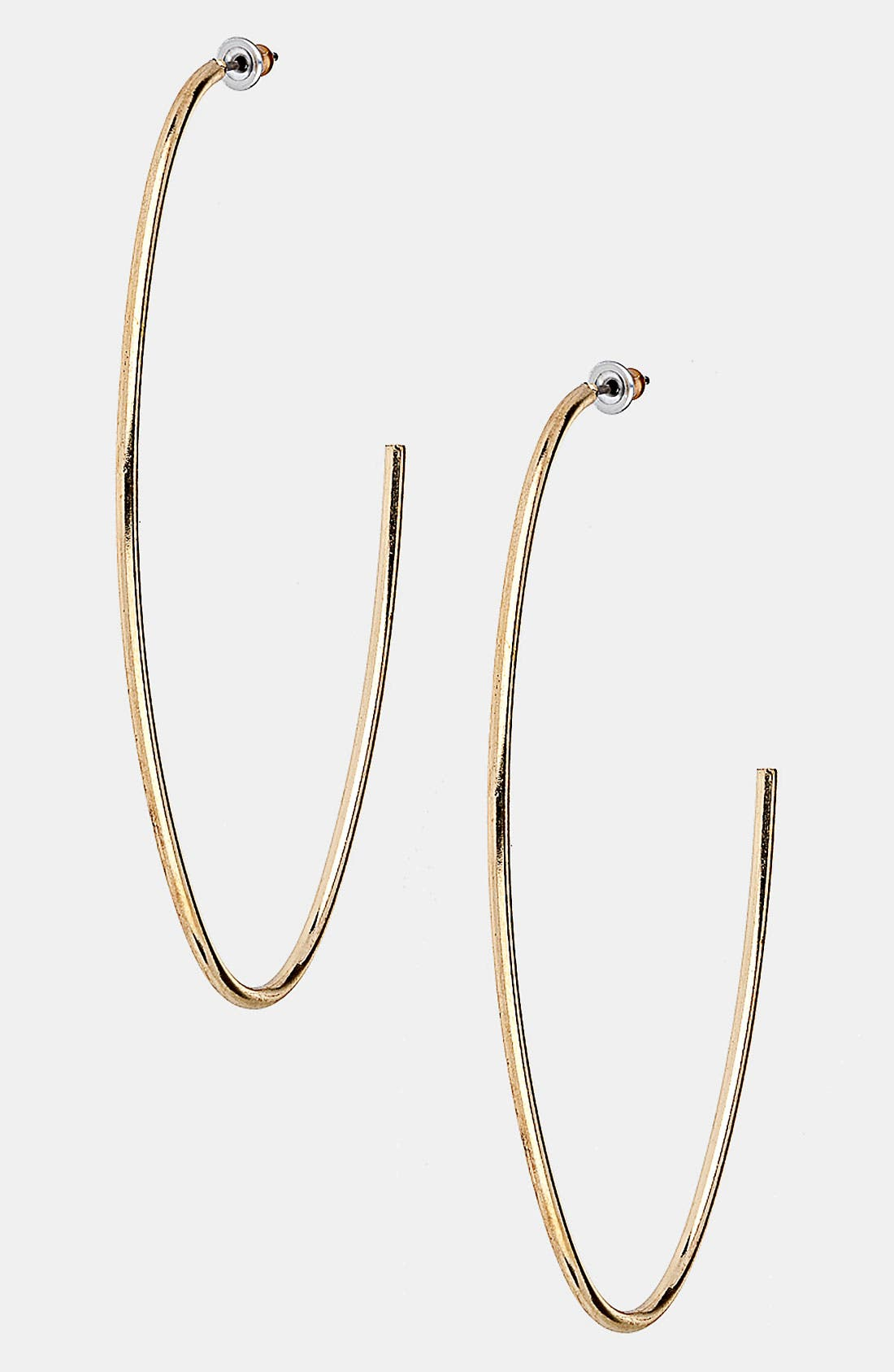 Alternate Image 1 Selected - Topshop Oval Half Hoop Earrings