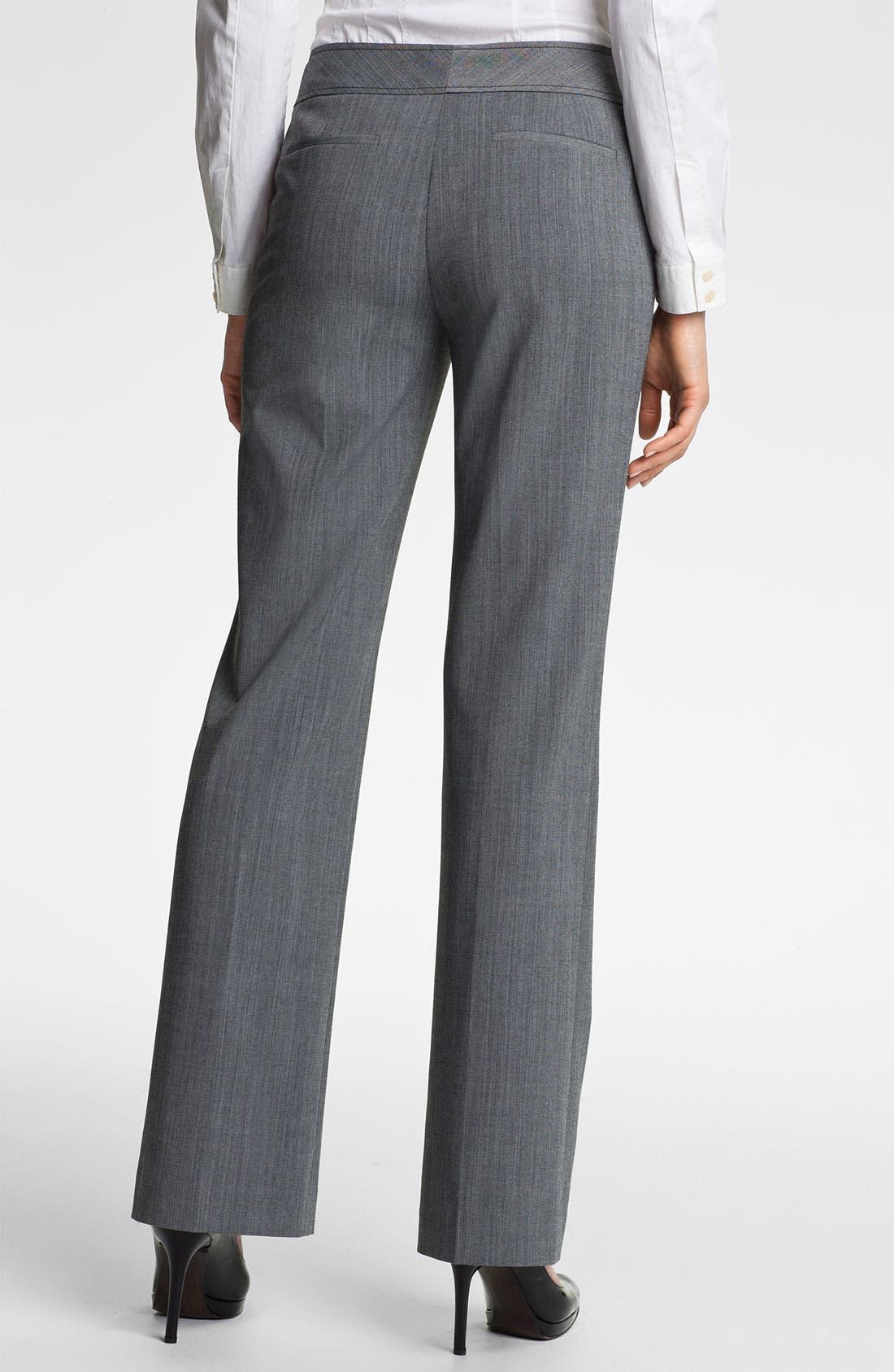 Alternate Image 2  - Halogen® 'Taylor' Cross Dye Curvy Fit Pants