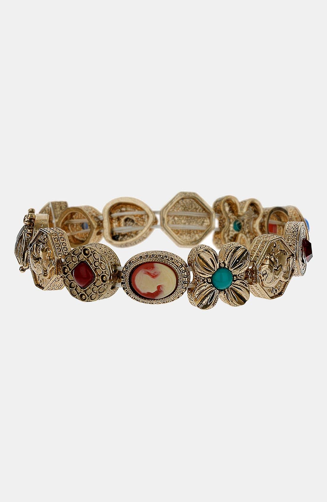 Alternate Image 1 Selected - Topshop 'Baroque' Stretch Bracelet