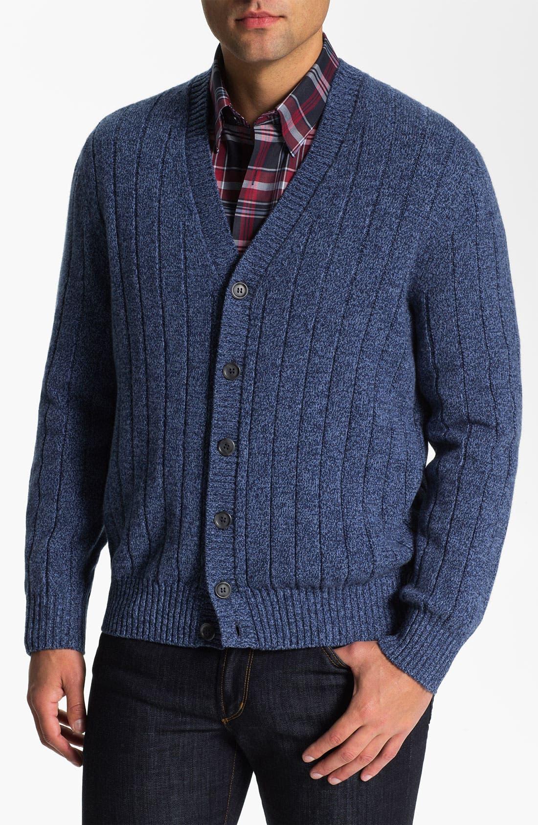 Alternate Image 1 Selected - Lora Gi Wool & Cashmere Button Cardigan