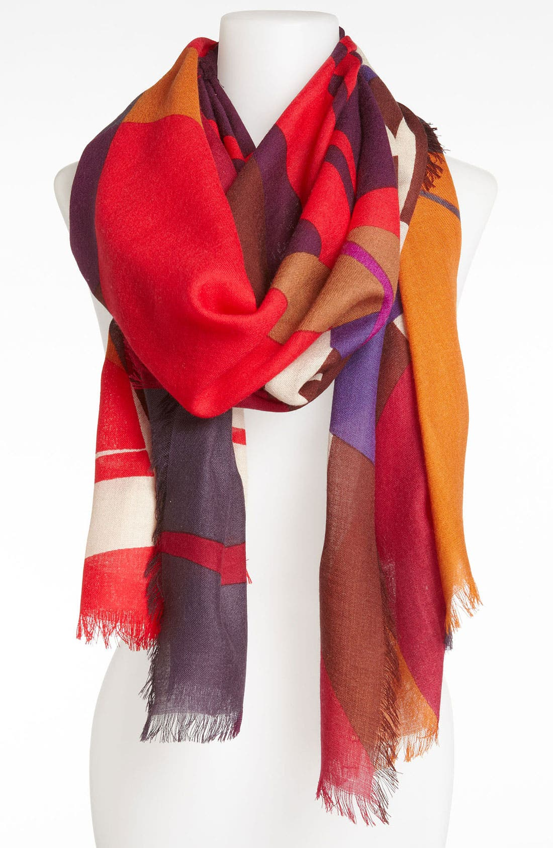 Alternate Image 1 Selected - Halogen® 'Distortion' Wool Challis Scarf