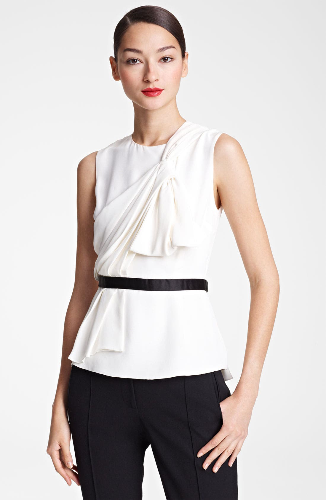 Alternate Image 1 Selected - Jason Wu Draped Silk Blouse