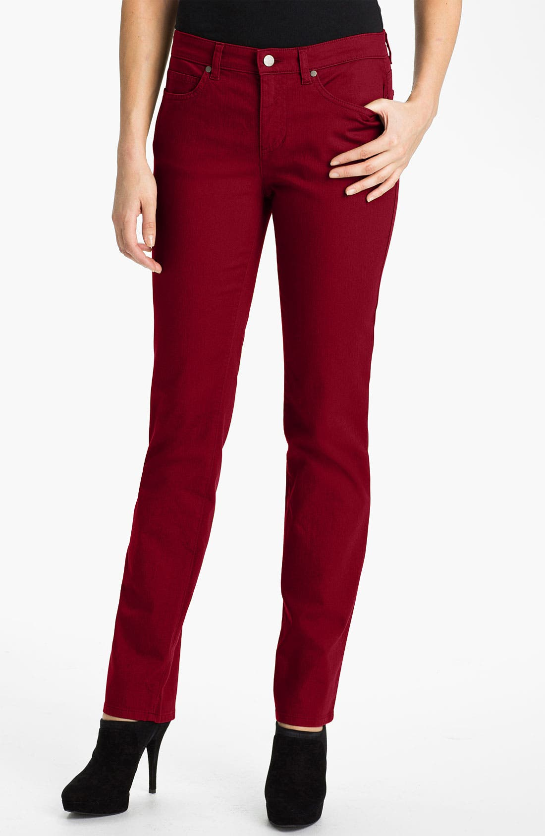 Alternate Image 1 Selected - Eileen Fisher Colored Denim Jeans (Online Exclusive)