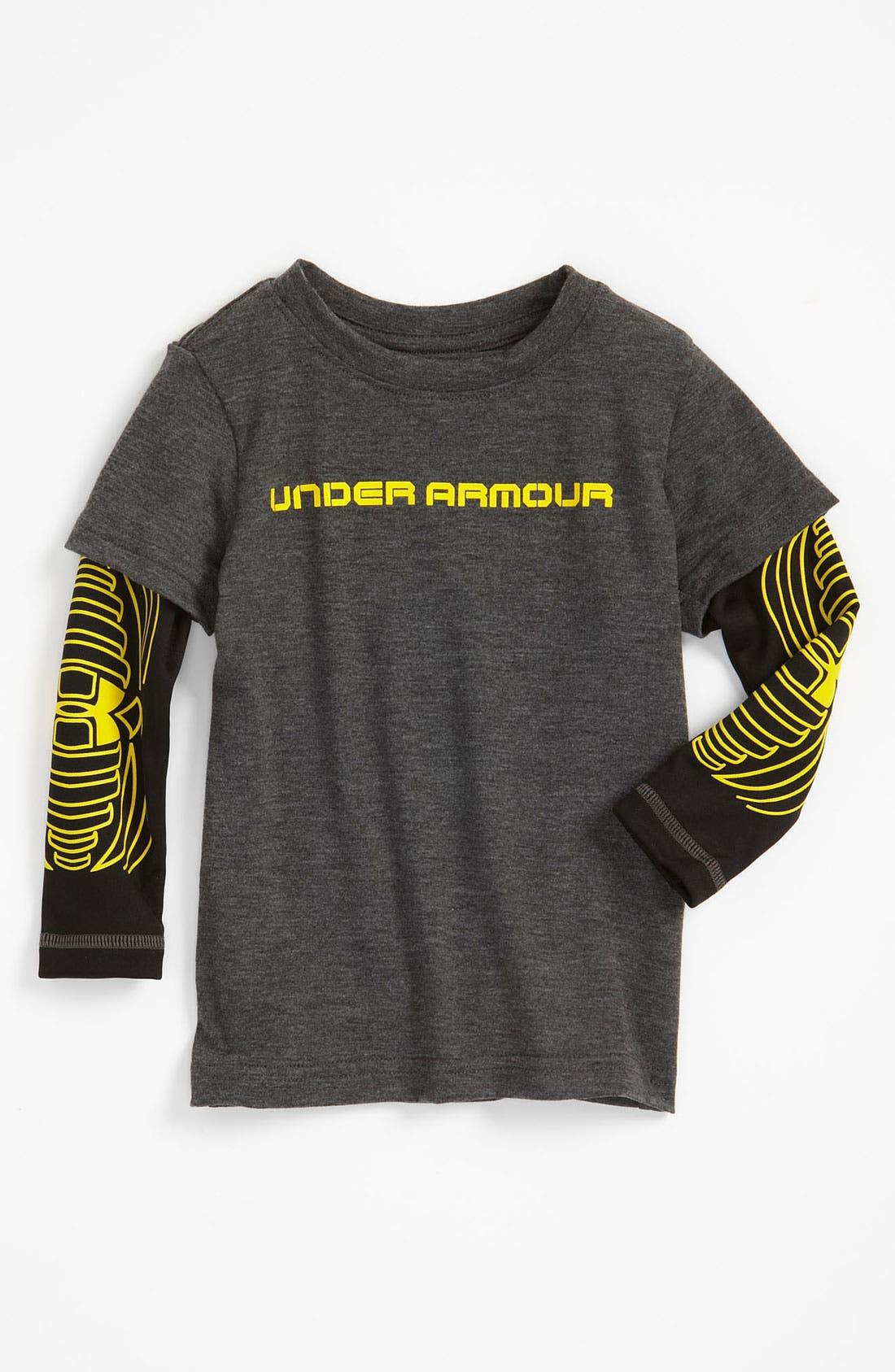 Alternate Image 1 Selected - Under Armour 'Slider' T-Shirt (Toddler)