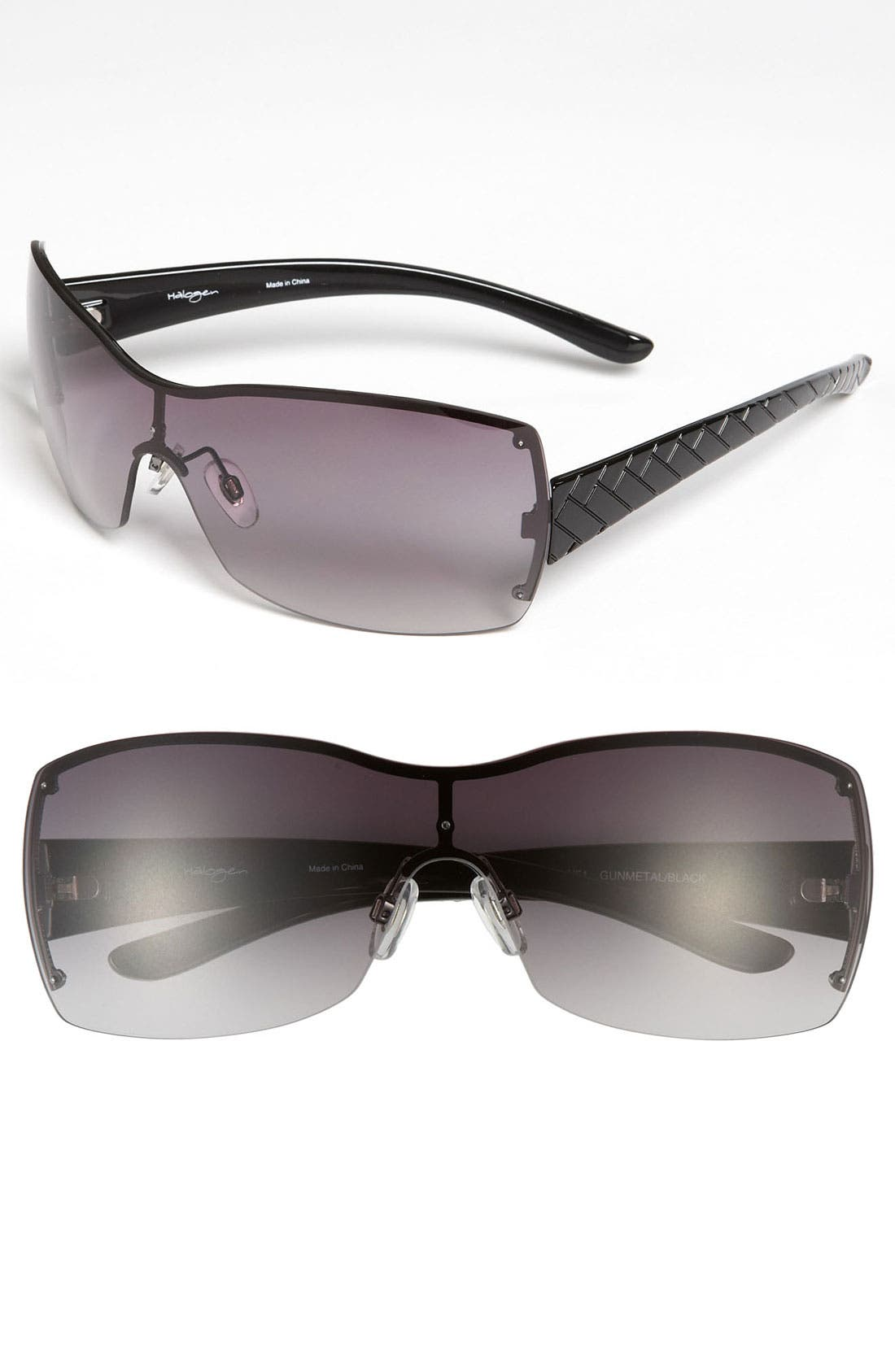Main Image - Halogen® 55mm Rimless Shield Sunglasses