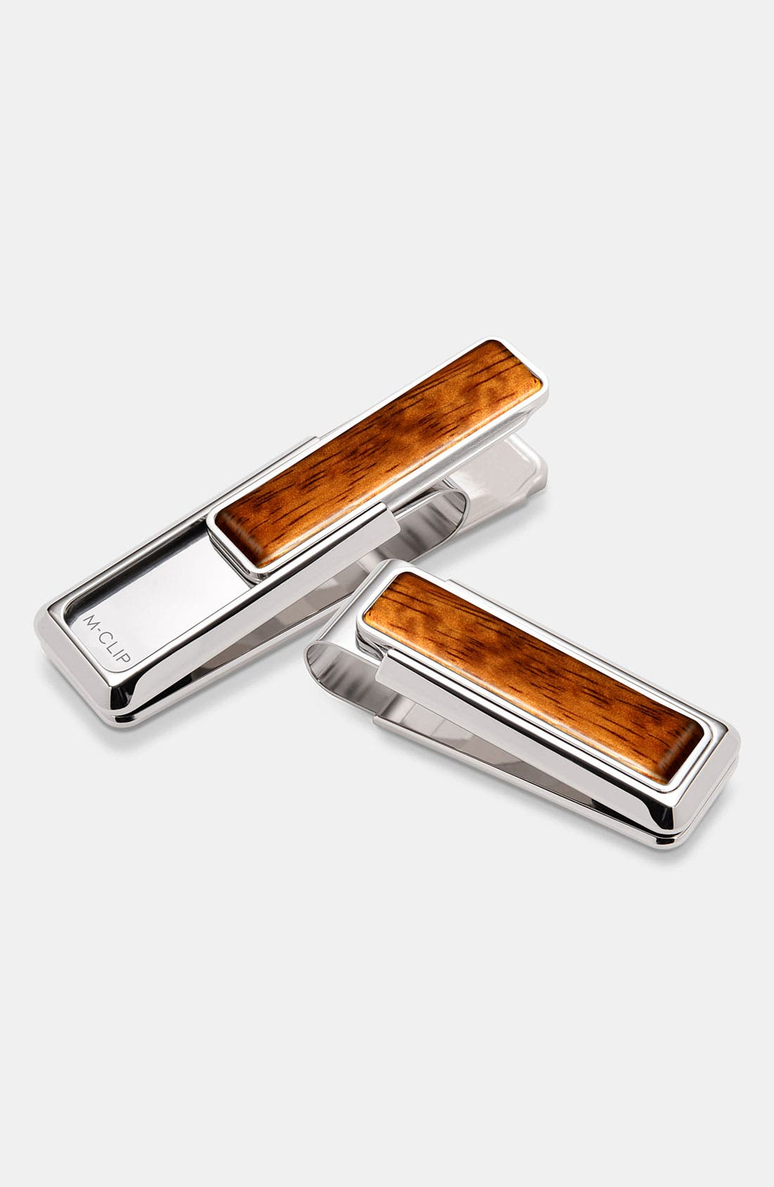 Wood Inlay Money Clip,                         Main,                         color, Bubinga Wood