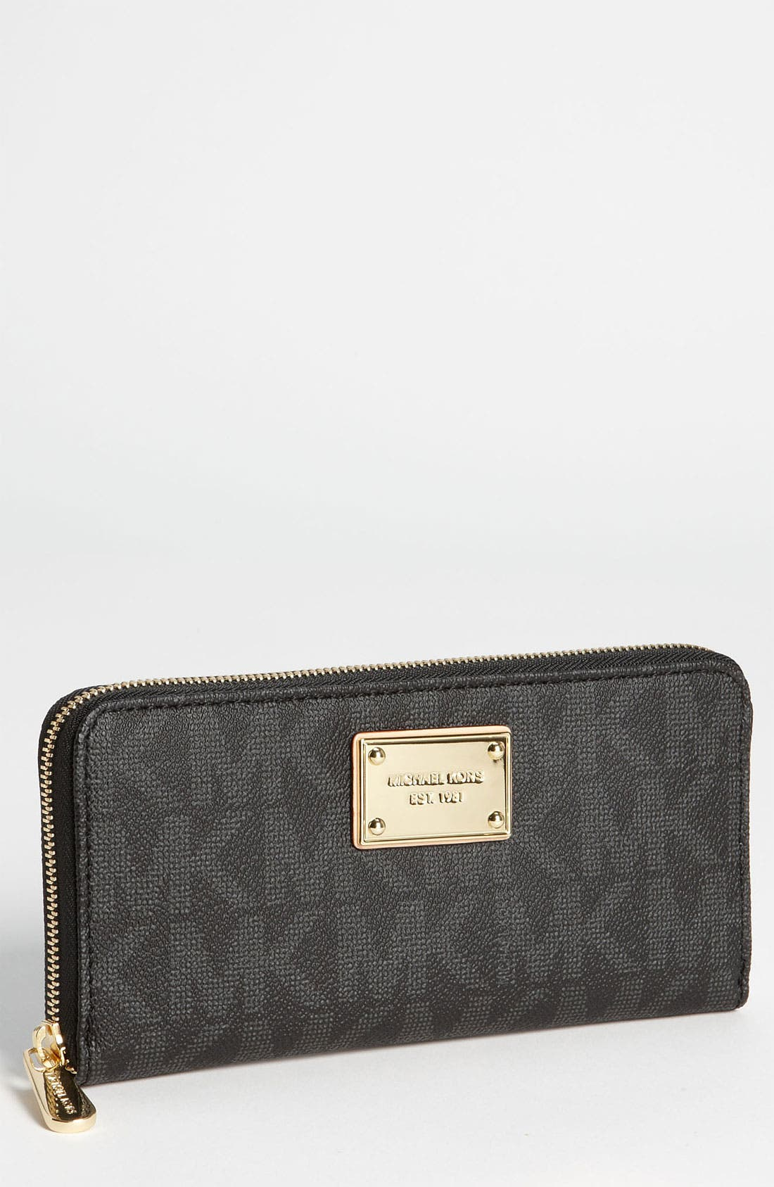 Alternate Image 1 Selected - MICHAEL Michael Kors 'Jet Set' Zip Around Wallet