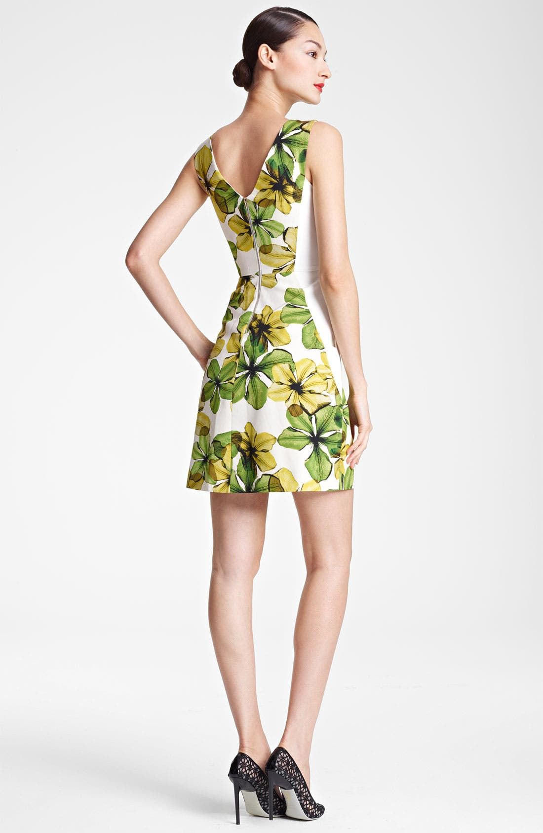 Alternate Image 2  - Jason Wu Print V-Back Dress