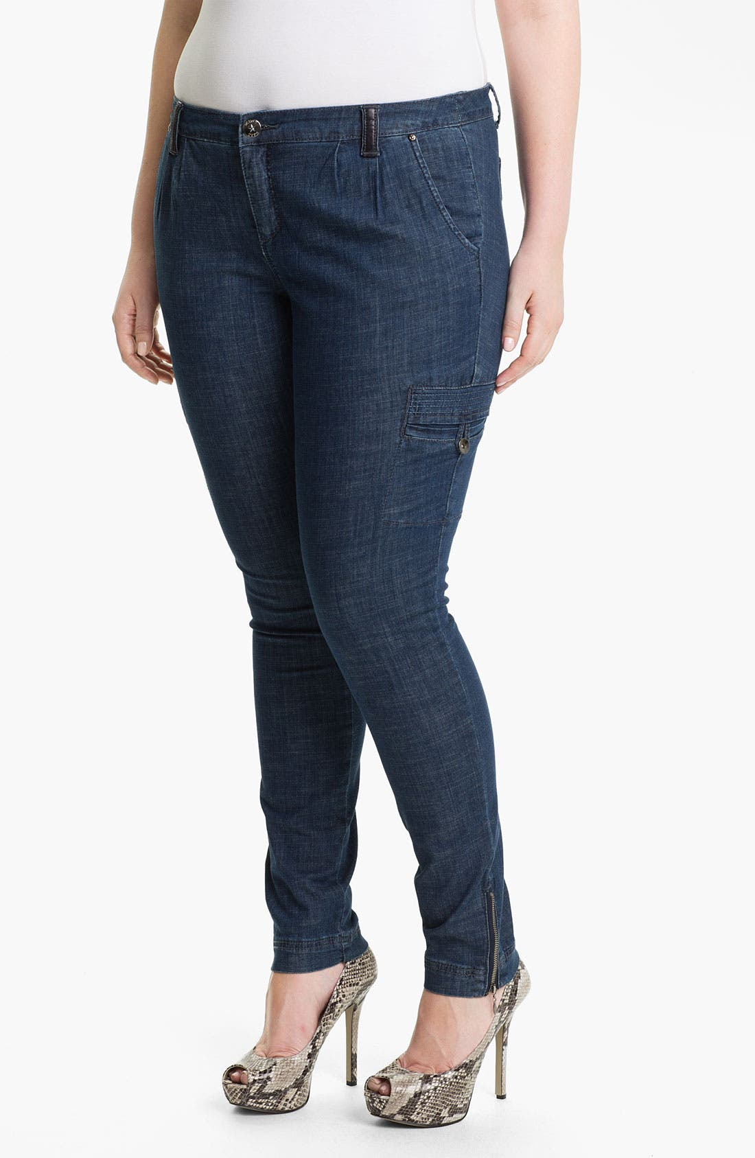 Alternate Image 1 Selected - Mynt 1792 'Houston' Skinny Cargo Jeans (Plus)