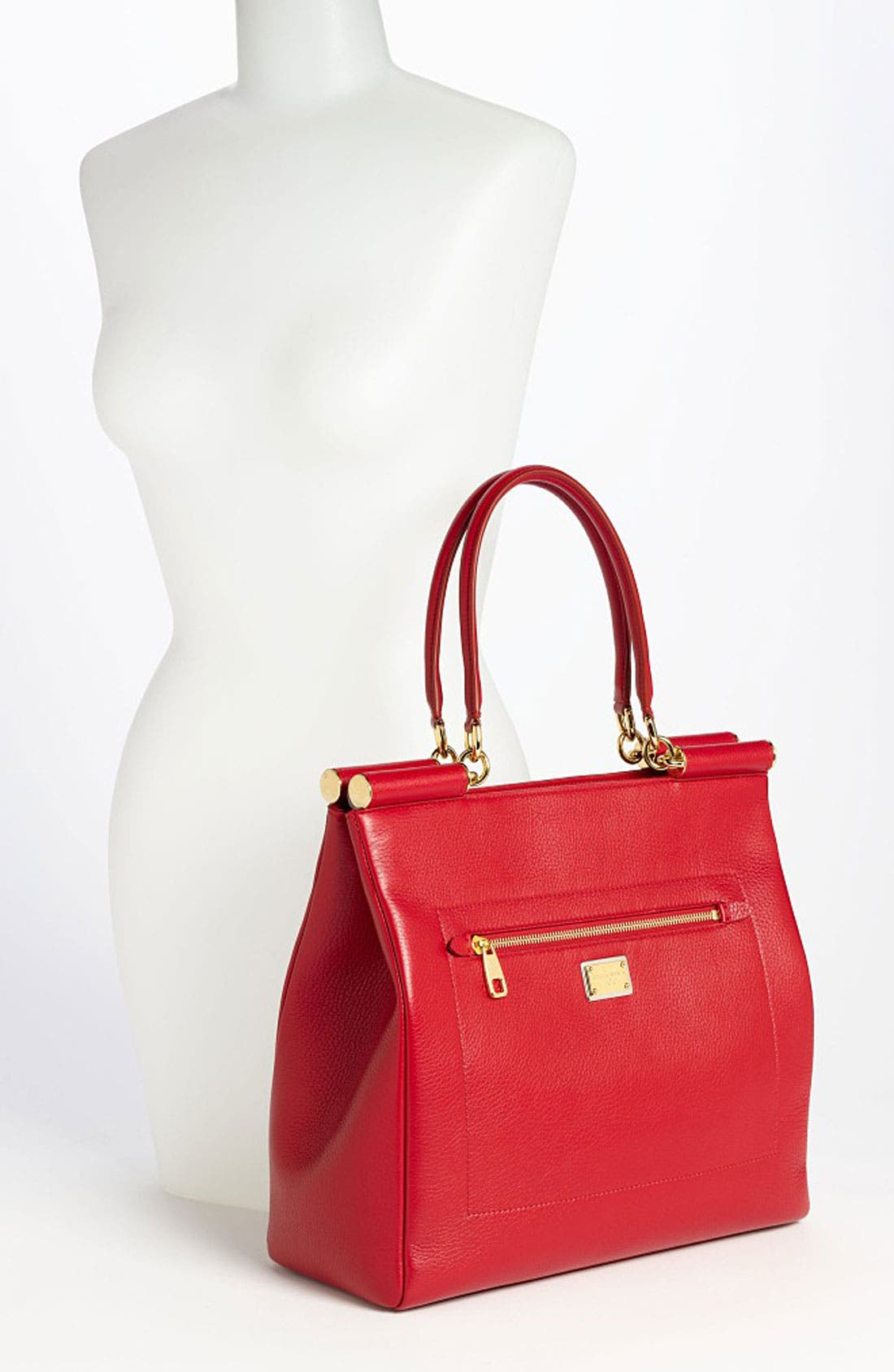 Alternate Image 2  - Dolce&Gabbana 'Miss Sicily' Leather Shopper