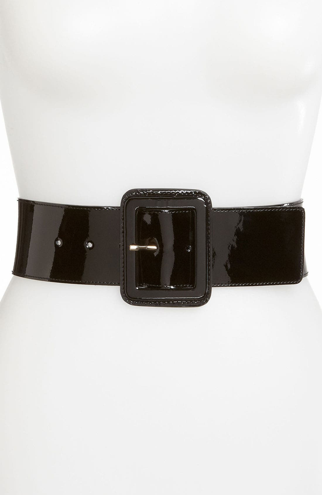 Alternate Image 1 Selected - St. John Collection Wide Patent Leather Belt