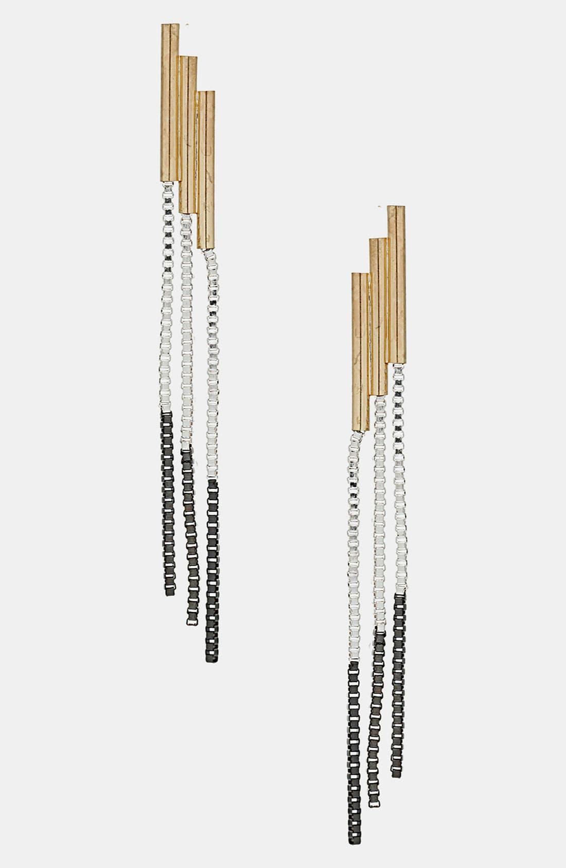 Alternate Image 1 Selected - Topshop Box Chain Strand Earrings