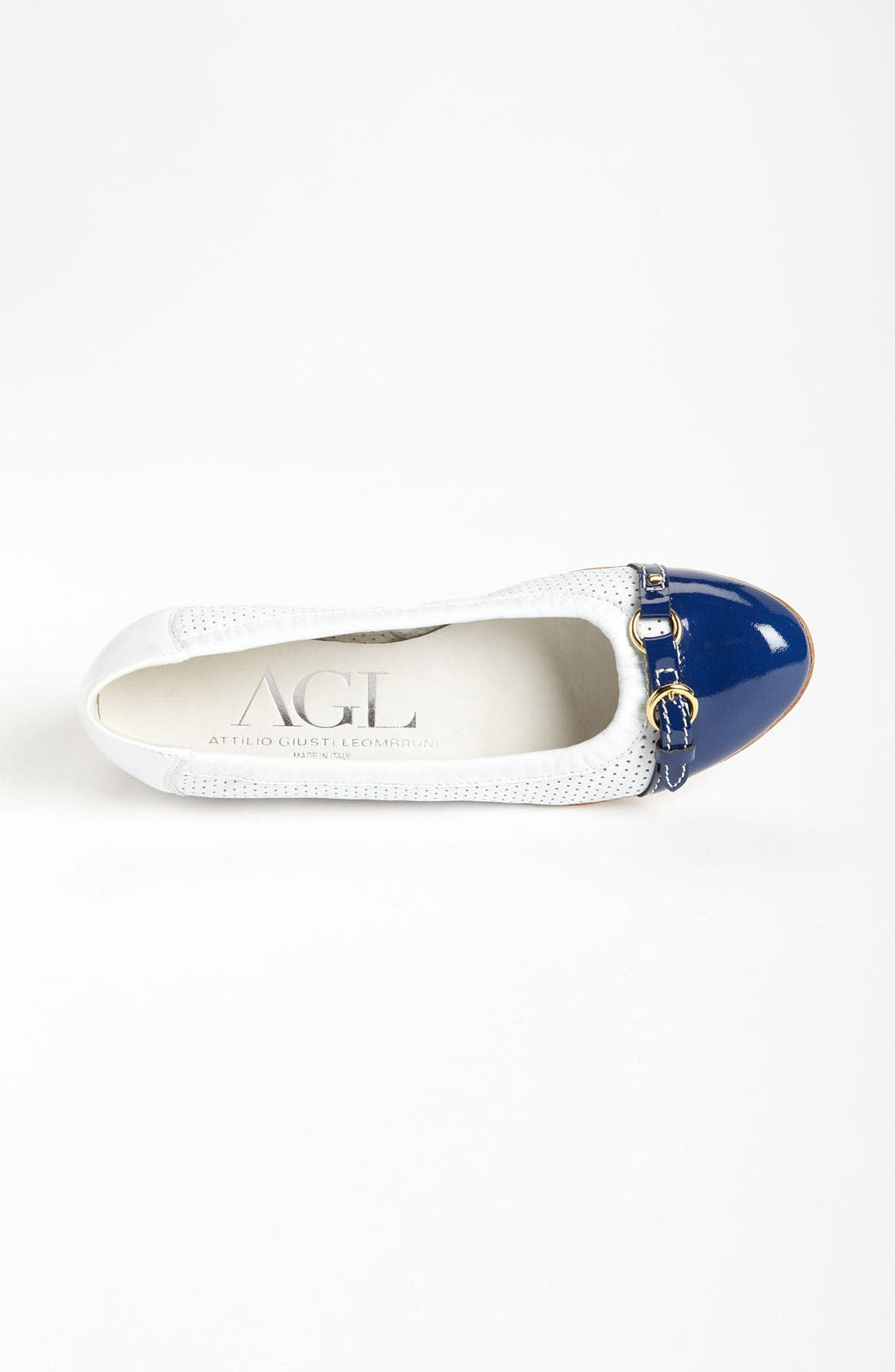 Alternate Image 3  - Attilio Giusti Leombruni Perforated Toe Cap Ballet Flat