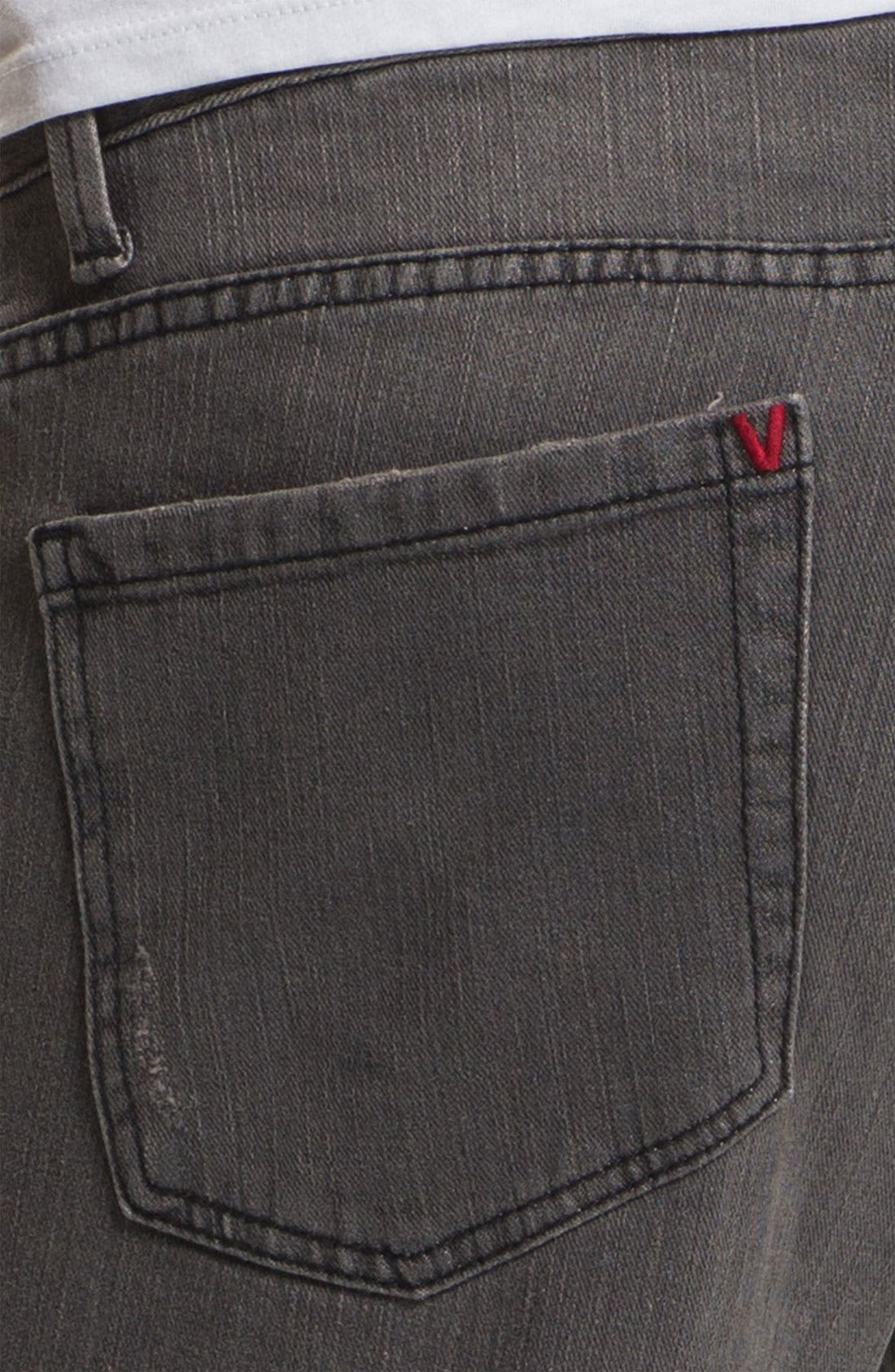 Alternate Image 4  - RVCA Slim Straight Leg Jeans (Grey Wolf)