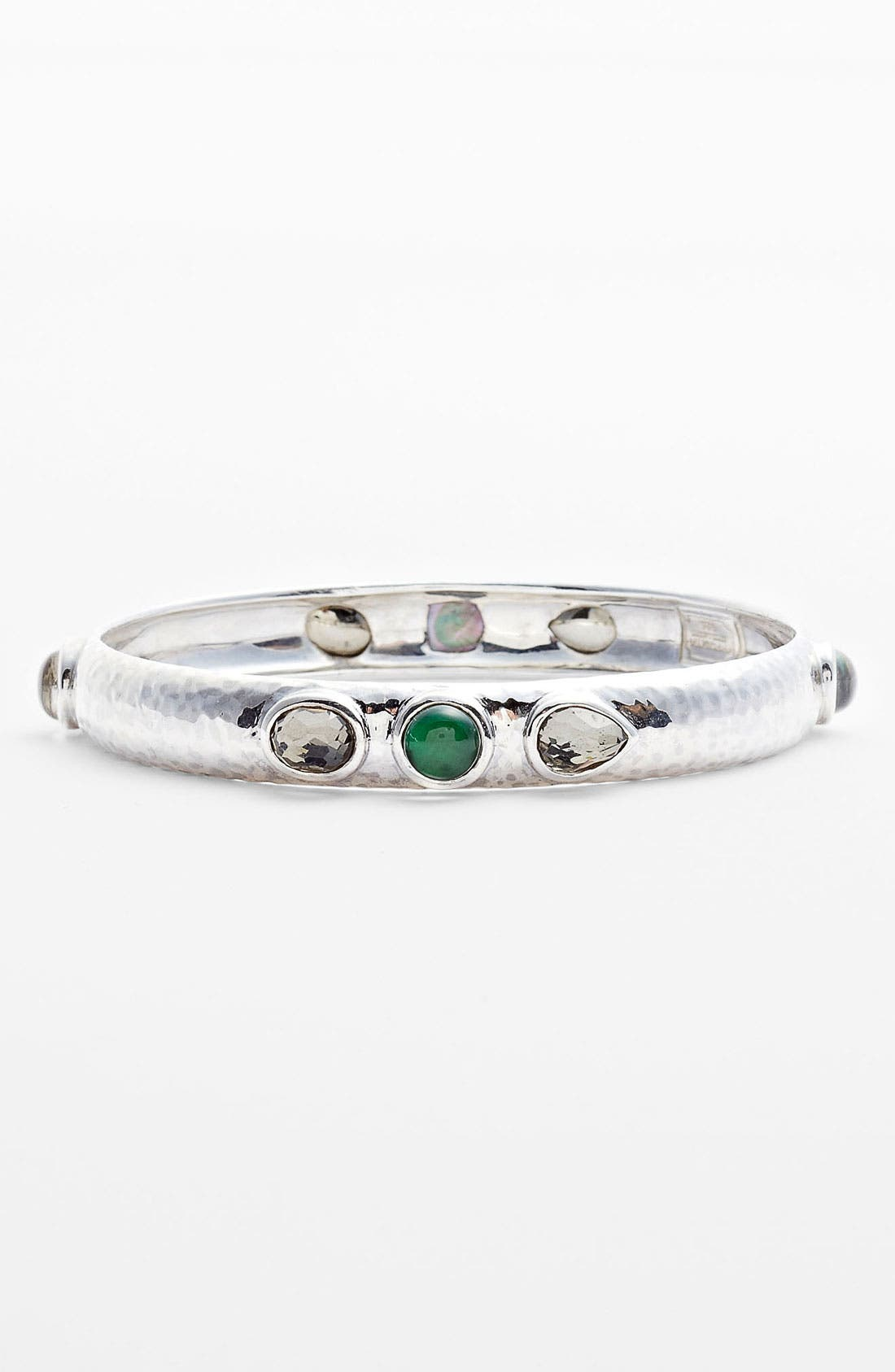 Mosaic 8-Stone Bangle,                         Main,                         color, Silver/ Prosecco