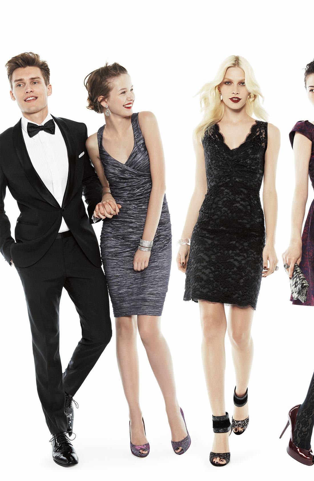 Alternate Image 4  - Calvin Klein V-Neck Lace Sheath Dress