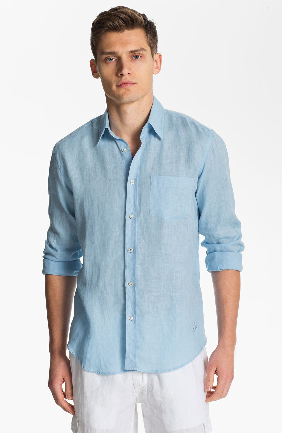 Alternate Image 1 Selected - Vilebrequin 'Caroubier' Linen Sport Shirt