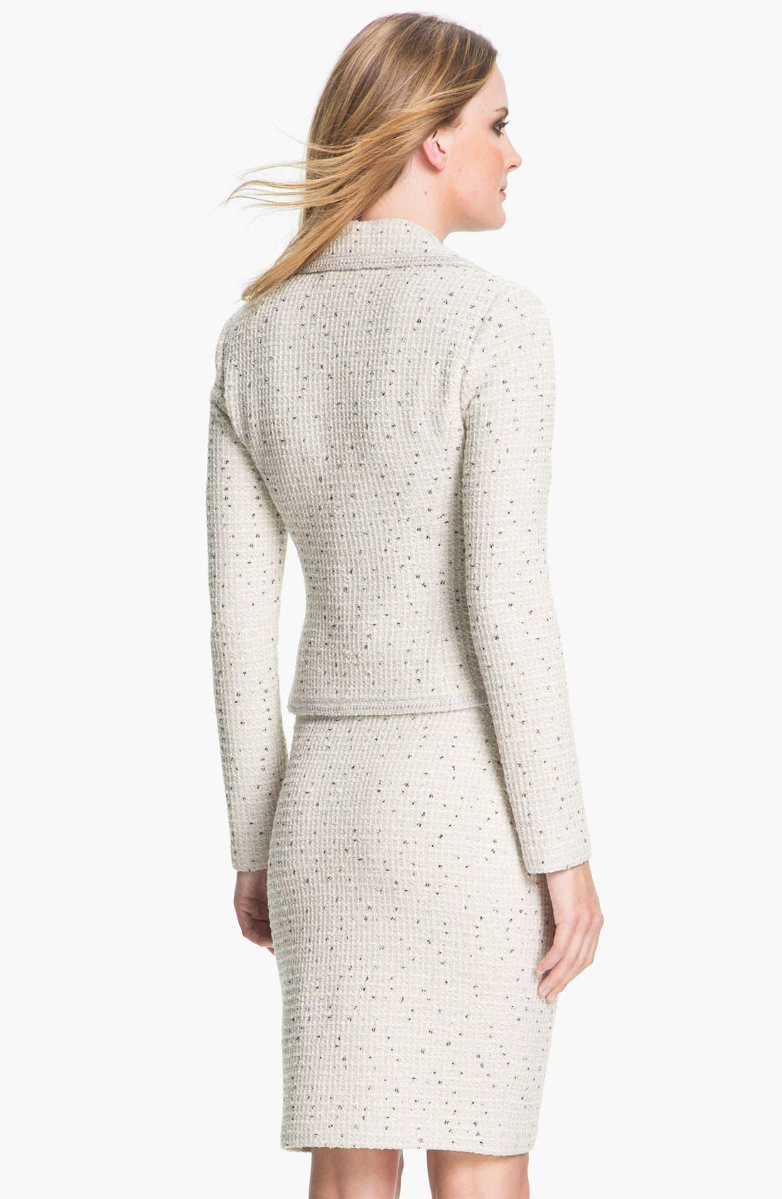 Alternate Image 3  - St. John Collection Shimmer Dot Tweed Jacket
