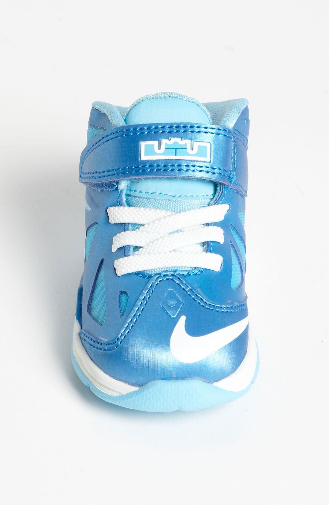 Alternate Image 2  - Nike 'LeBron 10' Basketball Shoe (Baby, Walker & Toddler)