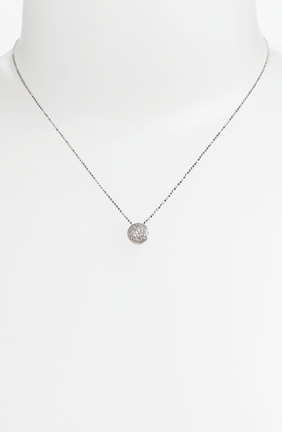 'Eclipse' Pavé Diamond Pendant Necklace,                             Alternate thumbnail 2, color,                             White Gold