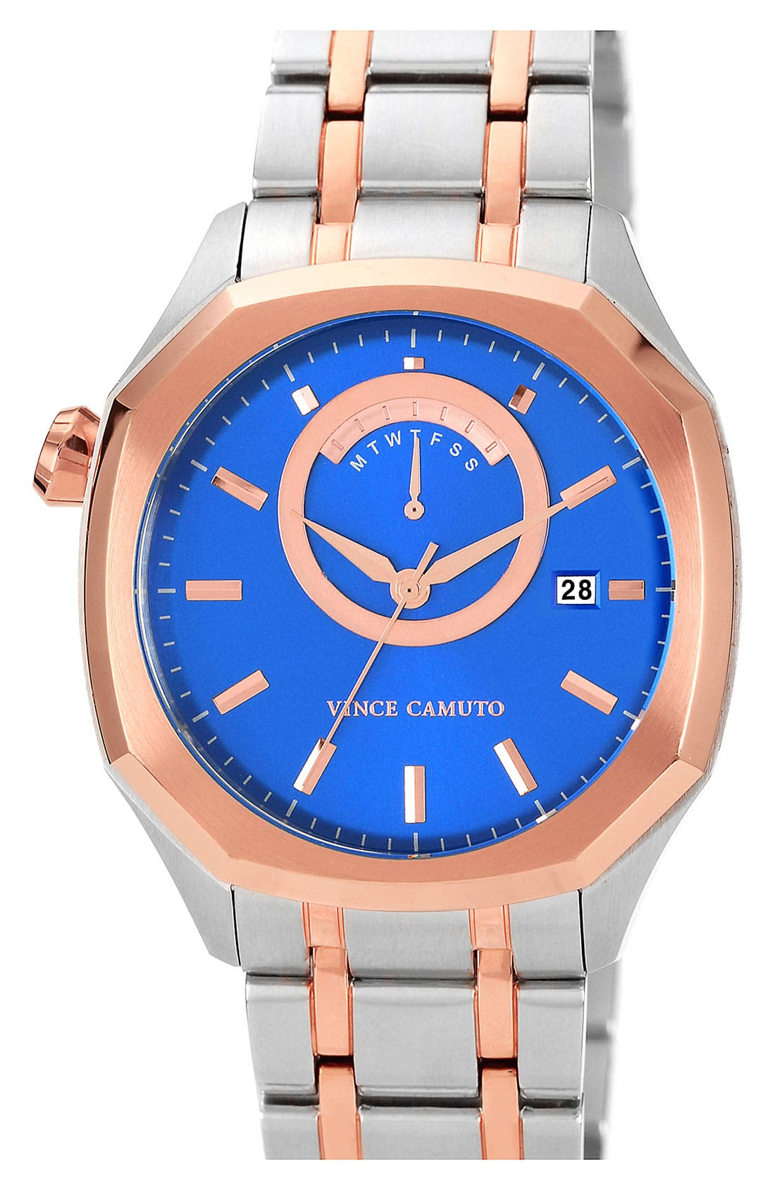 Main Image - Vince Camuto Octagonal Bracelet Watch, 42mm