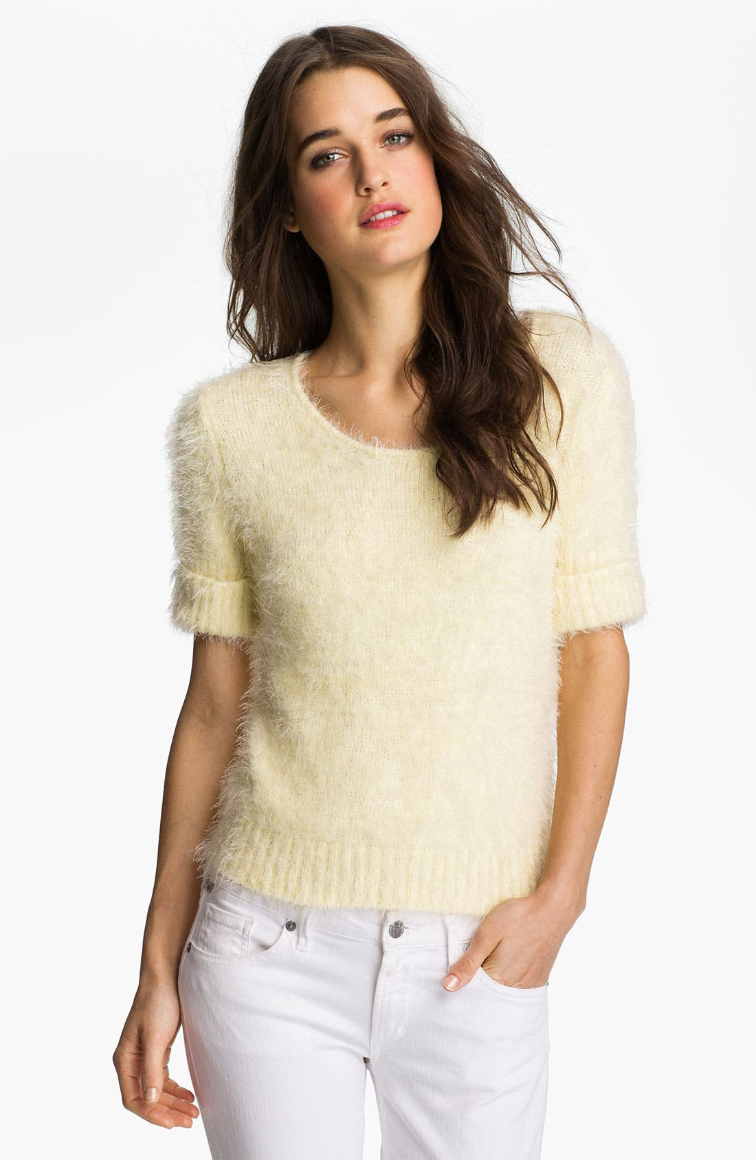 Alternate Image 1 Selected - Willow & Clay 'Kitten' Feather Knit Sweater
