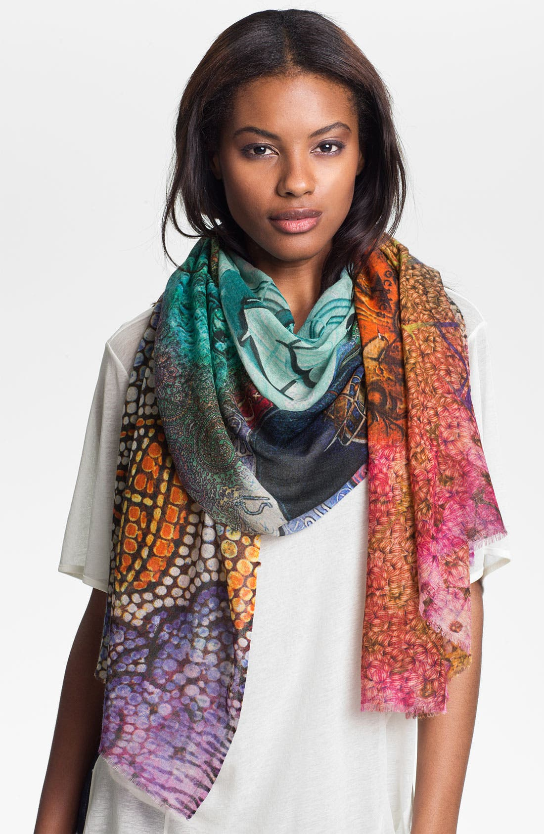 Main Image - Shawlux 'Libra' Cashmere & Silk Scarf