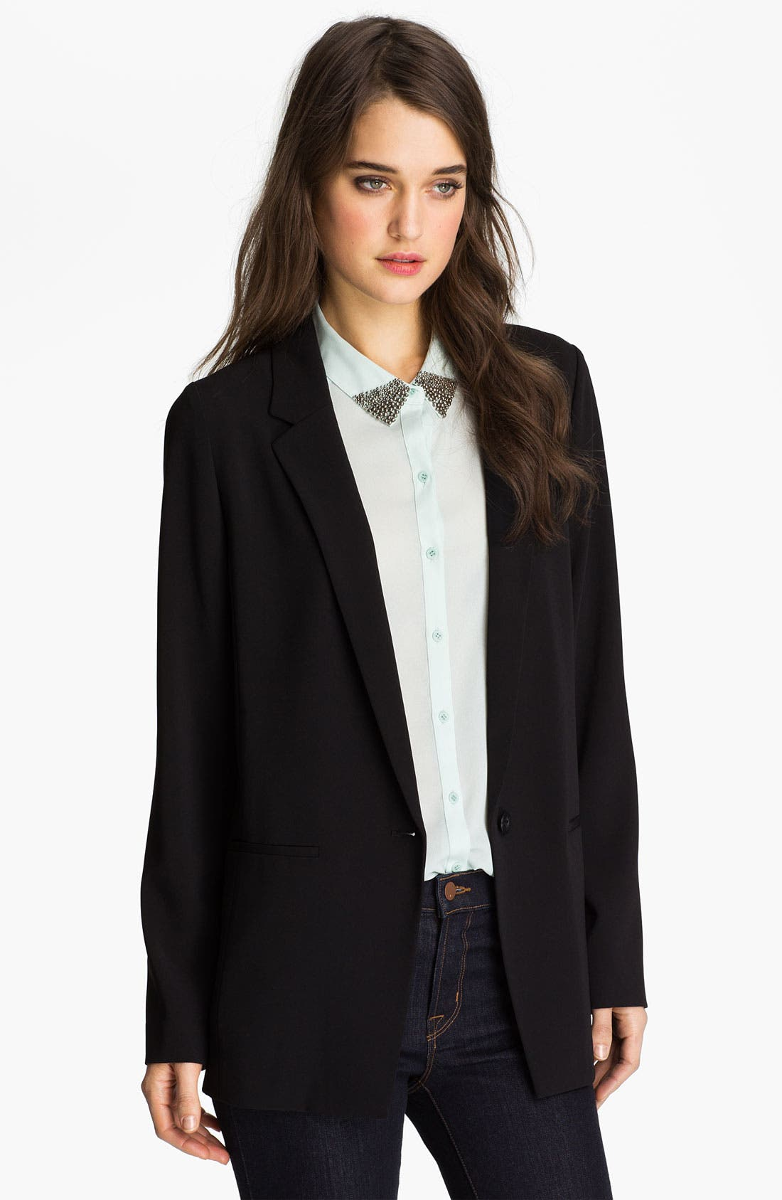 Alternate Image 1 Selected - Trouvé One-Button Menswear Blazer
