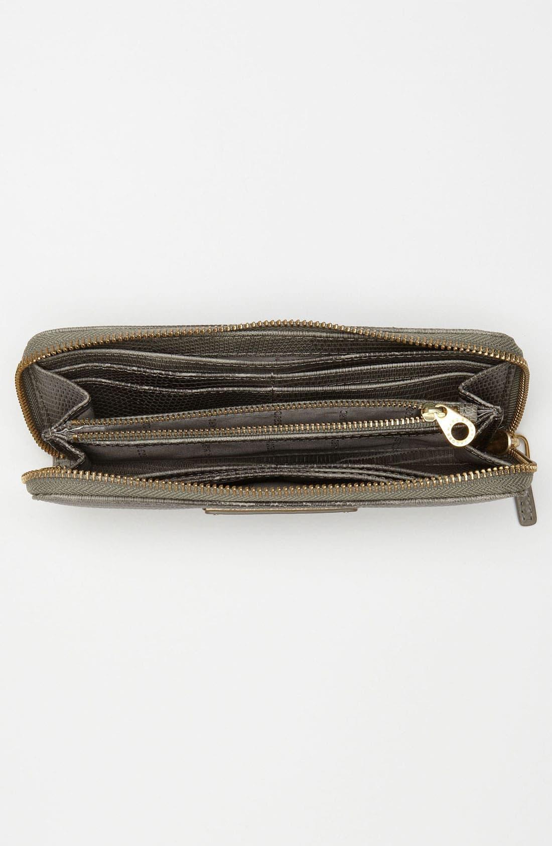 Alternate Image 3  - MARC BY MARC JACOBS 'Take Me' Lizard Embossed Zip Around Wallet