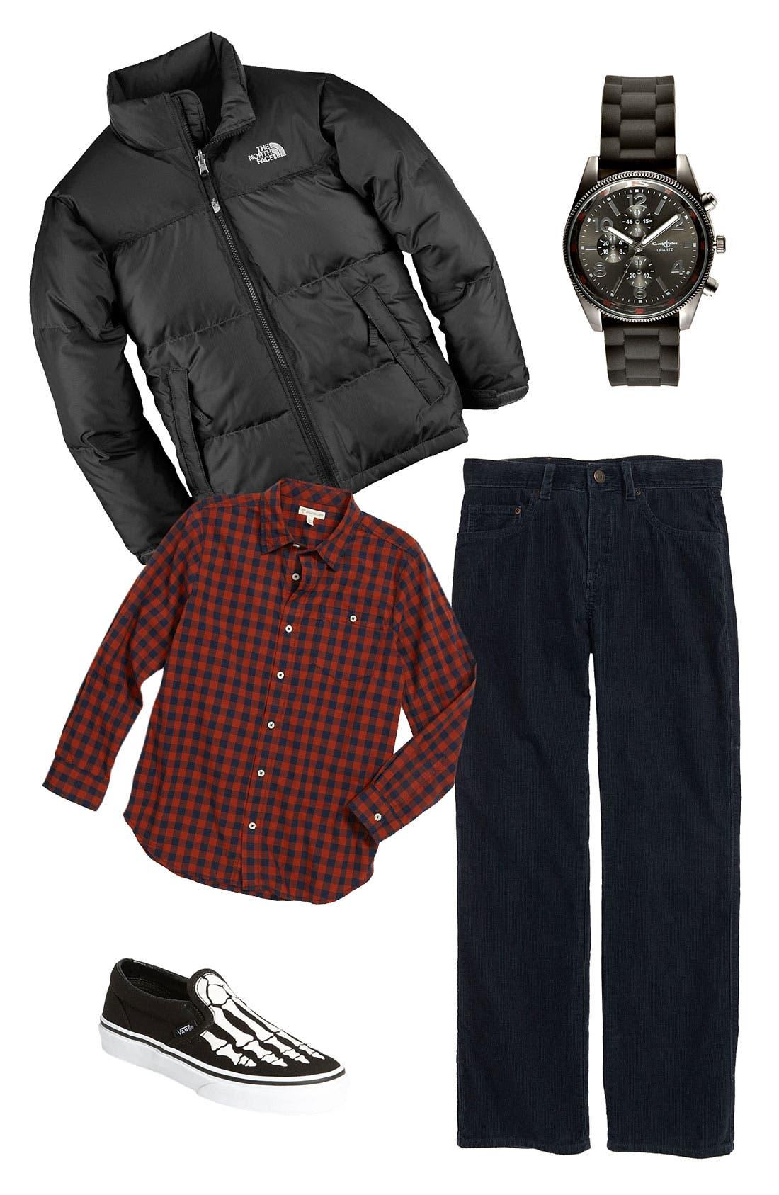 Alternate Image 1 Selected - The North Face Jacket & Tucker + Tate Shirt & Pants (Big Boys)