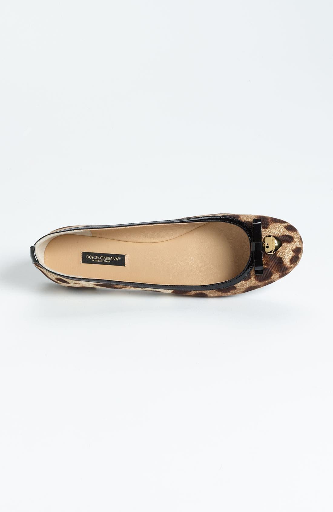 Alternate Image 3  - Dolce&Gabbana Leopard Print Ballet Flat