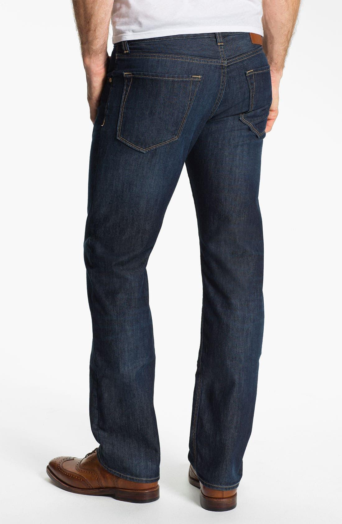 Alternate Image 2  - BOSS Black 'Maine' Straight Leg Jeans (Blue Flannel)